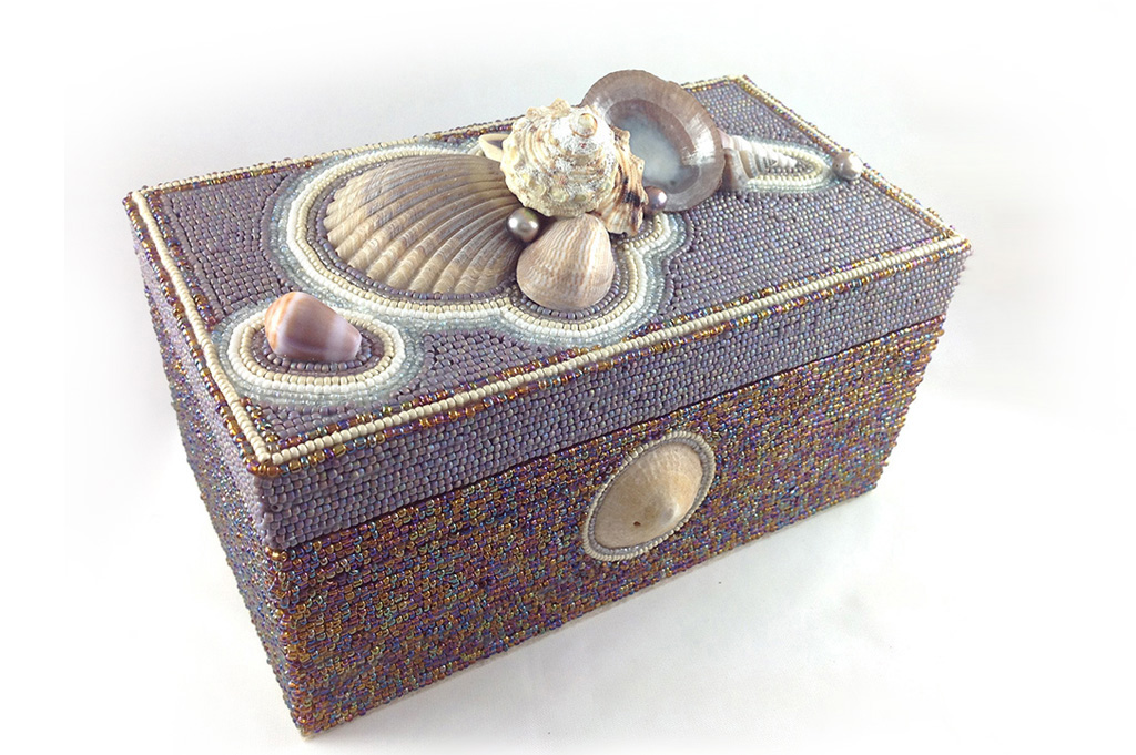 Sunset Bead and Shell Box